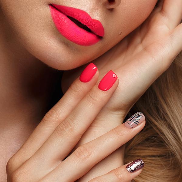Дизайн ногтей CASUAL(акрил.краски,лак,фольга,блестки)